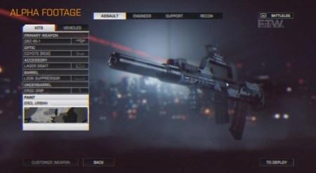Battlefield 4 Weapon Customisation