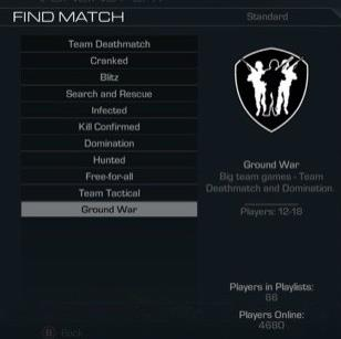 Ground War is available on Ghosts for PC2