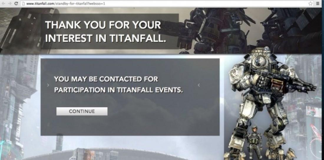 Titanfall αテストの招待が開始される