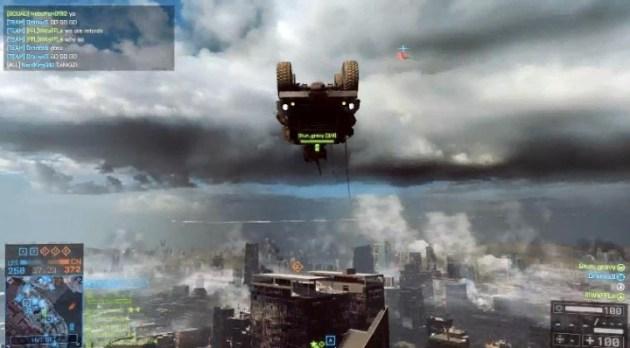 BATTLEFIELD 4:これは強い。高層ビル屋上の旗はジープで確保!