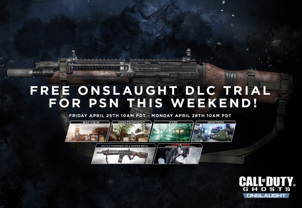 """CoD: ゴースト:DLC""""Onslaught""""の無料トライアルが4/26から開始(PS3/PS4)"""