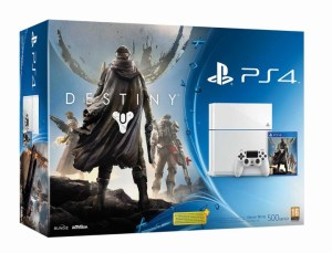 新色「グレイシャー・ホワイト」のPS4に『Destiny』を同梱した「Destiny Pack」9月11日発売