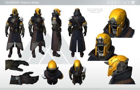 Destiny:キャラクターや武器、サイズ比較など複数のイメージを公開