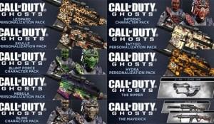 CoD: ゴースト:3種のキャラクターと2種の武器を含むアイテム11種をリリース(Xbox)