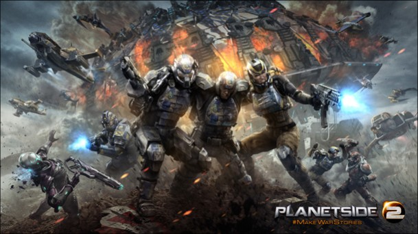2000人対戦の無料FPS『Planetside 2』、PS4版クローズドベータの日程を数日内に発表
