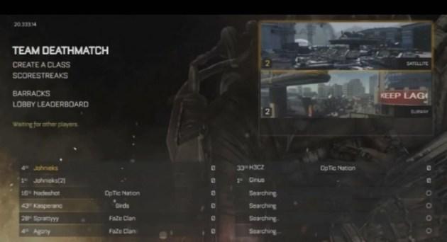 CoDAW:マルチプレイヤーのメニュー動画がリーク(自称)、ゲームモードは14種か? (7)