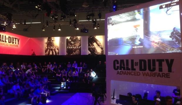 CoD:AW : Gamescomでのブースを紹介するツアー動画公開、約150台ものデモ機が登場