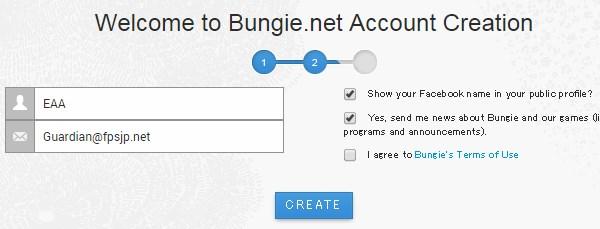 Bungie表示名