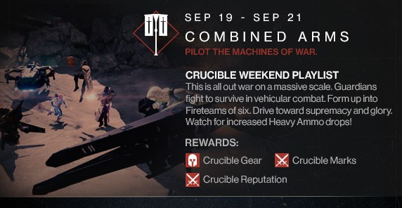 """Destiny:ビークル戦メインのPvP""""Combined Arms""""明日開催、新ストーリー""""The Queen's Wrath""""は24日から"""