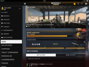 Battlefield 4 : Battlelogのタブレット用アプリがアップデート
