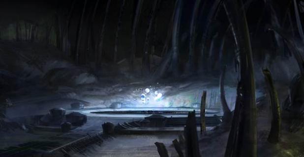 月のハイブ内部にある「夜の間 (Chamber of Night)」