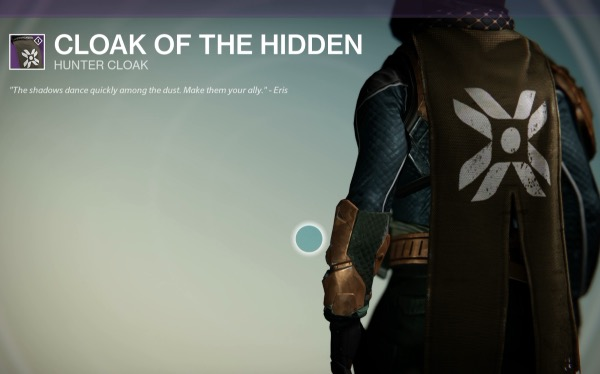 『Destiny(デスティニー)』CLOAK OF THE HIDDEN