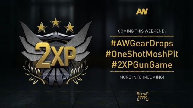 CoD:AW:今週末にダブルXP開催!新ギア、OneShot MoshPit、GunGameも登場