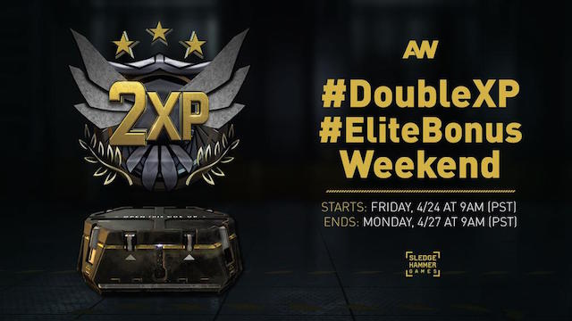CoD:AW:ダブルXPとエリート武器の獲得率UPの「エリートボーナス」開始、28日まで