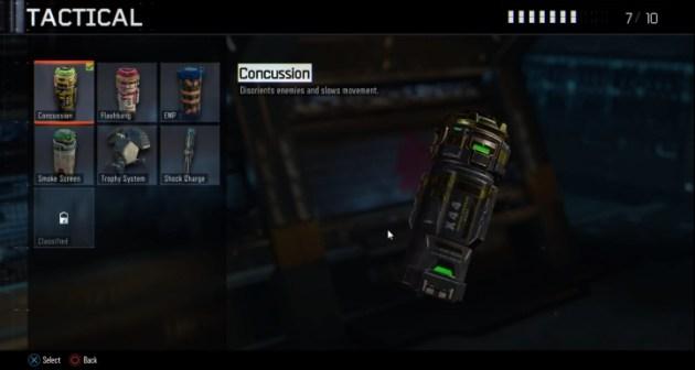 コンカッション:敵を混乱させ、動きを遅くさせる。