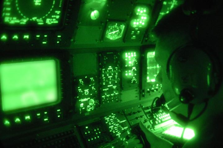AC-130Uのセンサー室