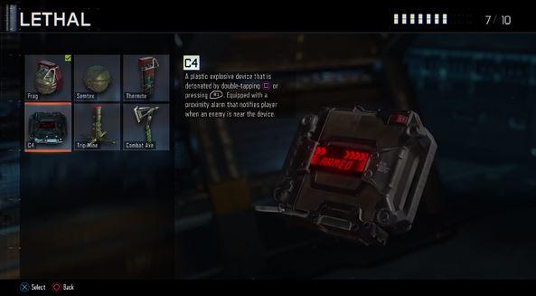 CoD:BO3:リーサル & タクティカル装備【更新】