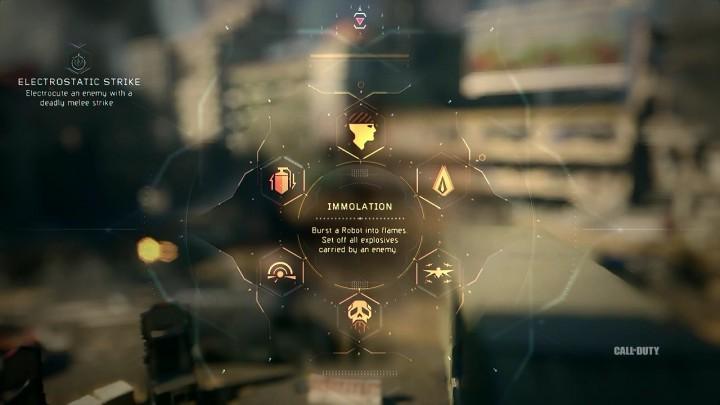 Immolation:ロボットを炎で包む。敵の所持している爆発物全てを爆発させる。