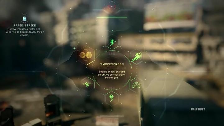 Smokescreen:イオンがチャージされた防御用のスモークスクリーンを発生させる。