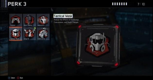 タクティカルマスク:フラッシュバン、コンカッション、ショックチャージの効果を削減