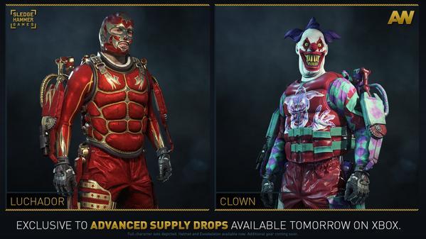 CoD:AW:5種の新装備、サムライ、ピエロ、深海ダイバー、蜘蛛、レスラーが明日リリース(Xbox)