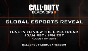 CoD:BO3:eSports関連の機能が8月6日に発表、gamescom 2015にて