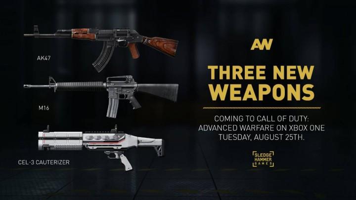 CoD:AW:新武器AK-47、M16、CEL-3とロイヤリティ武器11種が配信開始(PS4,PC)