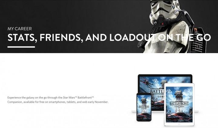 SWBF:公式サイトにコンパニオン機能「マイキャリア」タブ追加
