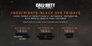 CoD:BO3:新ゲームモードの発表が10月17日早朝を予定