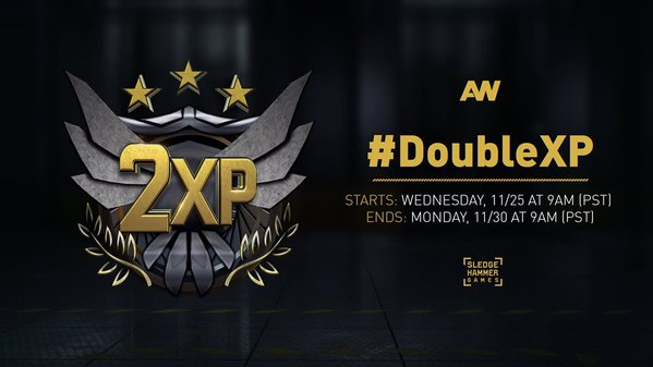 CoD:AW:全てのプラットフォームで5日間のダブルXPを開催