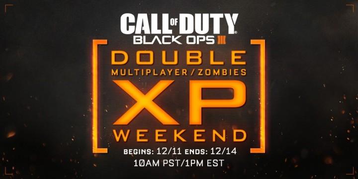 CoD:BO3:マルチとゾンビのダブルXP、12月12日3時より開催