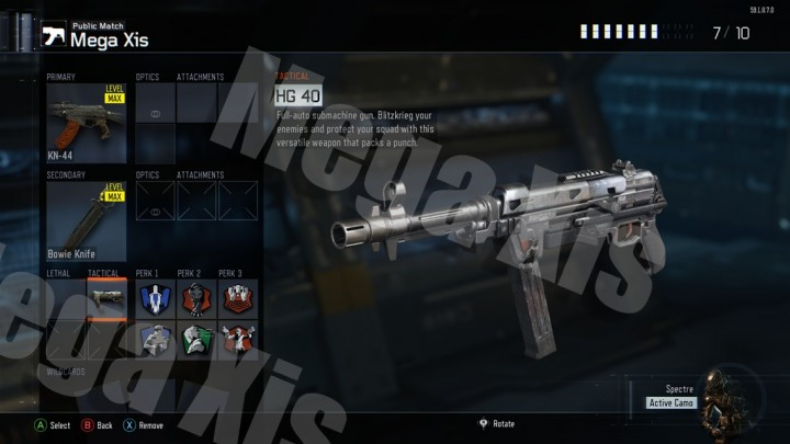 CoD:BO3:パッチ1.08で新武器「HG 40」追加、MP 40の後継銃?