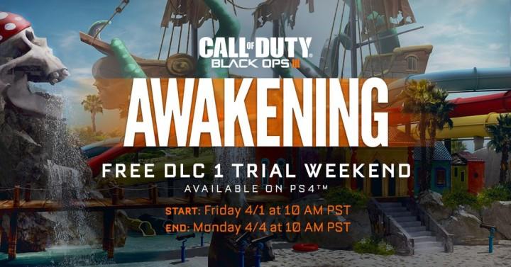 "CoD:BO3:第1弾DLC""Awakening""の限定無料プレイ解禁、4月2日深夜2時から(PS4)"