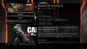 CoD:BO3:ダブルXPイベントが16日深夜2時から開始