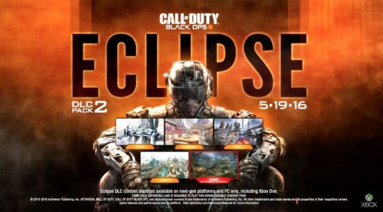 "CoD:BO3:第2弾DLC ""Eclipse""、Xbox One向けの配信は5月19日に決定"