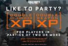 CoD:BO3:パーティープレイ限定のダブルXP & ダブル武器XPが5月11日午前2時から