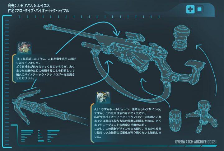 オーバーウォッチ:新ヒーロー追加は間もなく?トールビョーンとマーシーの合作武器「バイオティック・ライフル」公開