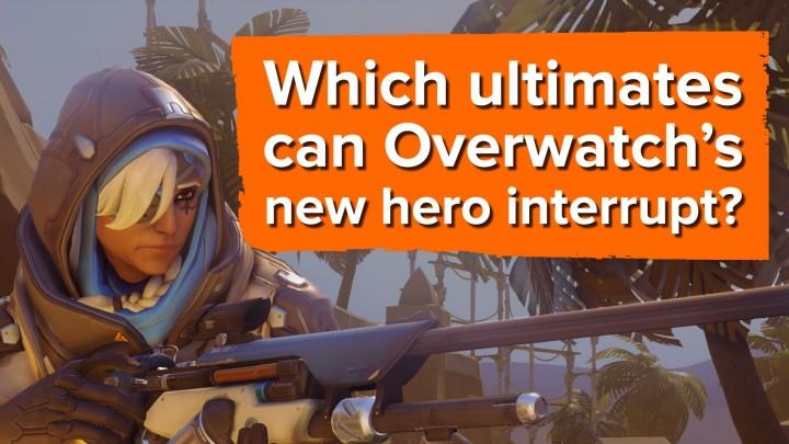 """オーバーウォッチ:敵のアルティメットを強制停止する、新ヒーロー「アナ」の""""スリープ・ダーツ""""を検証"""