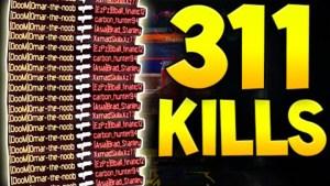 CoD:BO3:もはや自然災害。311キル達成の超高速キル量産動画