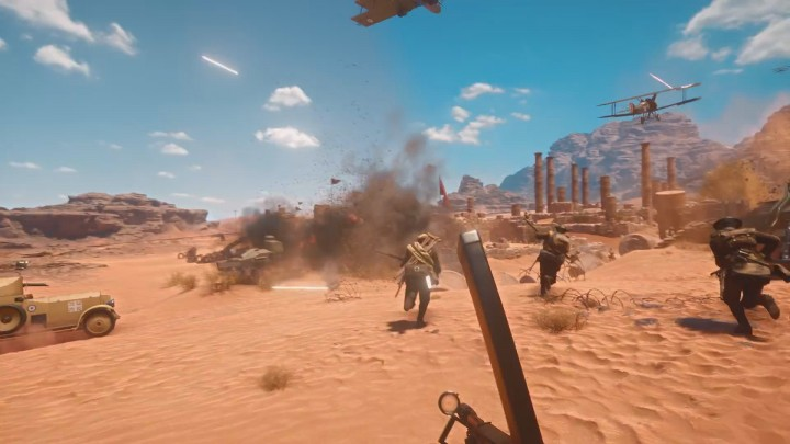 BF1:騎馬戦闘や爆破要素を満載した「砂漠の新マップ」、Gamescomにて8月16日午前4時から配信