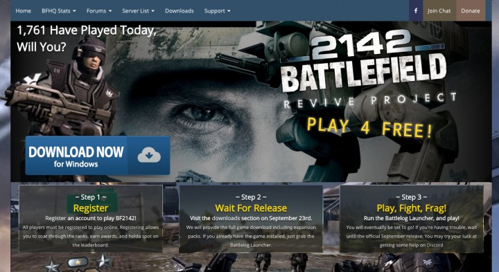 『BF 2142』のリバイブプロジェクト稼働開始、無料でプレイ可能