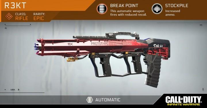 CoD:IW:フルオートアサルトライフル「R3KT」の詳細公開