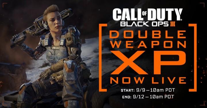 CoD:BO3:武器ダブルXPが開催、9月12日まで