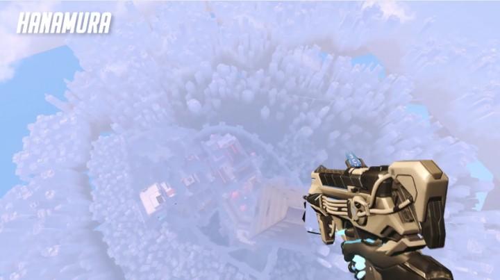 """オーバーウォッチ: マップをハック、「ソンブラ」で超上空からマップの全景を見渡す""""スカイダイビング映像""""が話題"""