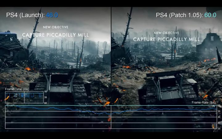 BF1: アップデート「1.05」でPS4版のパフォーマンスが大幅に改善、比較動画あり(PS4 / Xbox One)