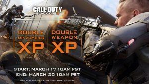 CoD:BO3:マルチとゾンビのダブルXP & ダブル武器XP同時開催、3月21日まで