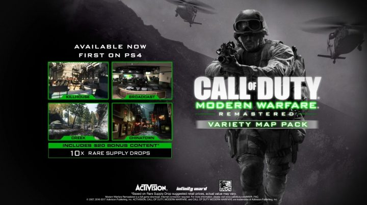 CODMWR-DLC-key-Call of Duty Modern Warfare Remastered Variety Map Pack Trailer