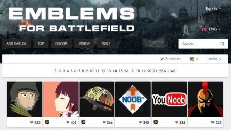 "BF1:エンブレムのコピー・アップロードが簡単にできるWebサービス ""EMBLEMS FOR BATTLEFIELD"""