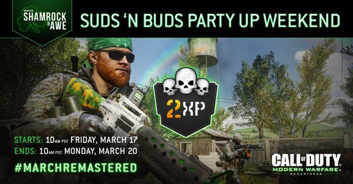 CoD:MWR: パーティー限定のダブルXP開催、3月18日午前2時より