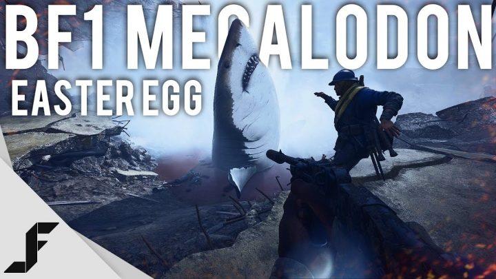 """BF1: 巨大な怪物鮫""""メガロドン""""イースターエッグがBF1でも発見さる"""